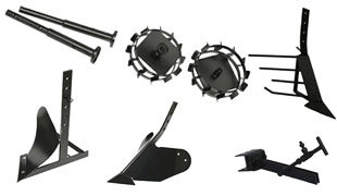 Комплект насадок для FJ500 (грунтозацепы, удлинитель, плуг, картофелевыкапыватель, окучник, сцепка) в Чайковскийе